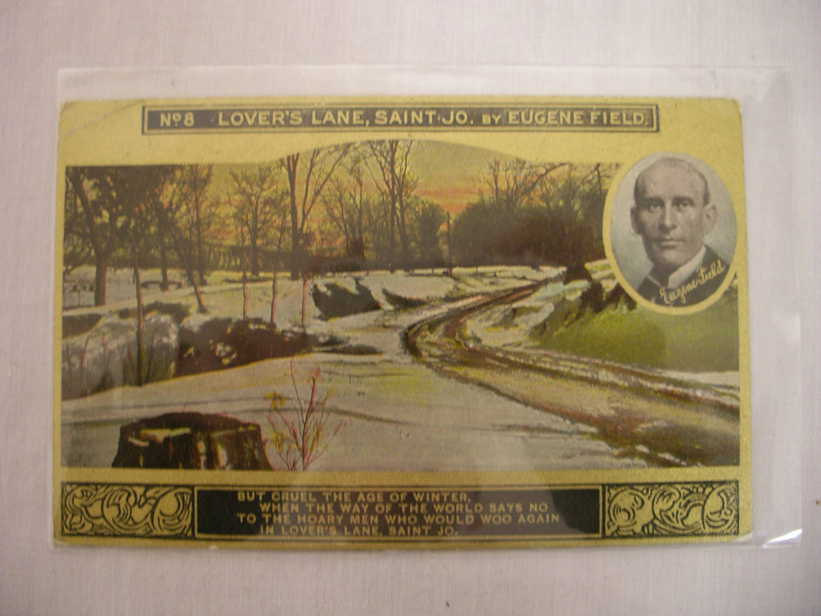 Vintage Lovers lane Postcard St. Joseph Mo
