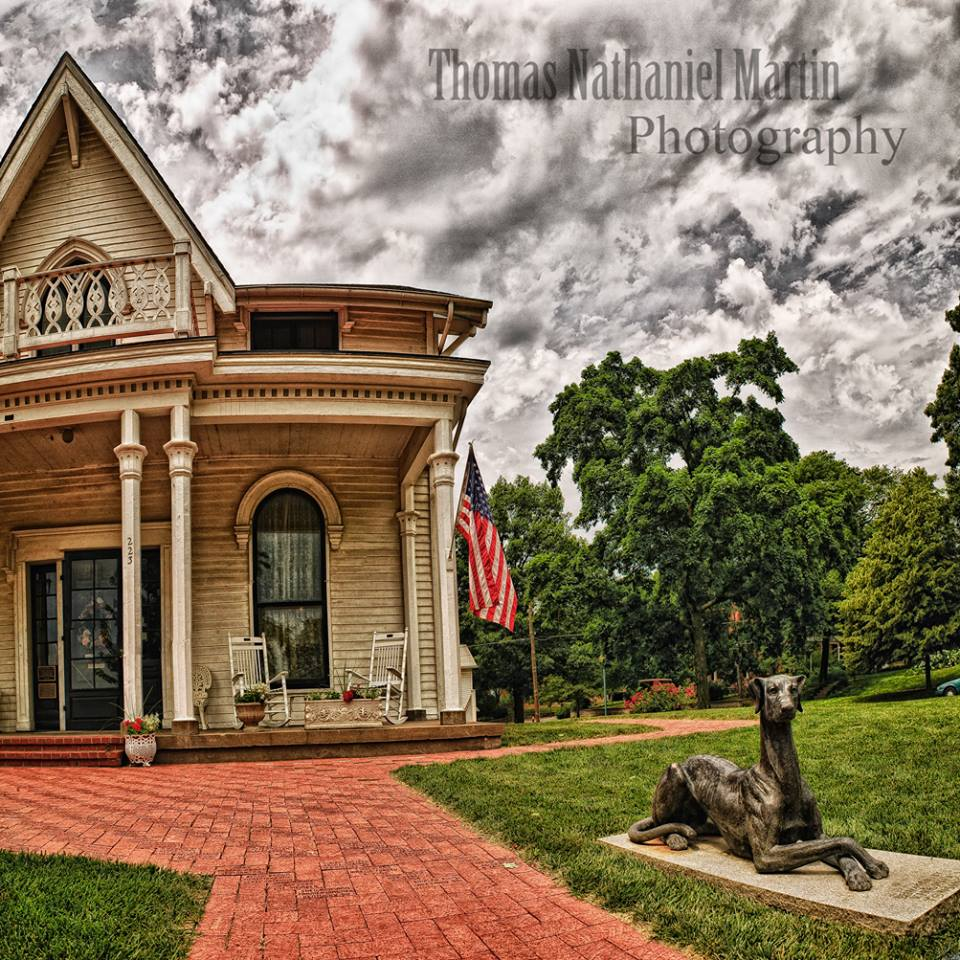 Amelia Earhart was born in this house down the road from St Joseph in Atichison KS in this house 116 years ago today