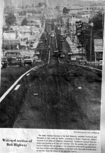 1977 News Press Photo showing the widening of the Belt Highway