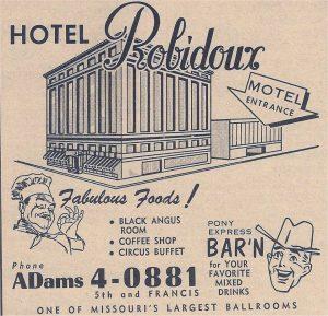 Ad For Hotel Robidoux St. Joseph, Mo.