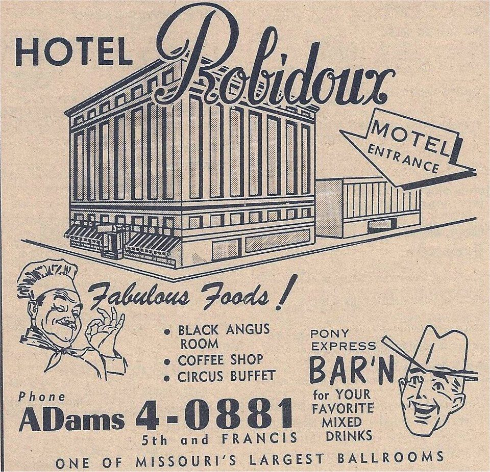 Ad For Hotel Robidoux St. Joseph, Mo.
