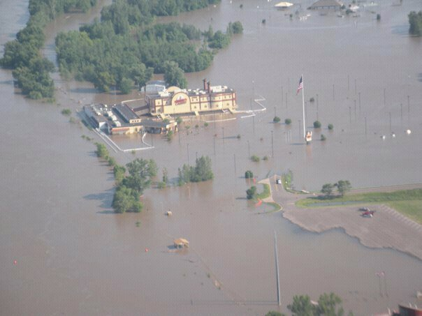 Terrible's Frontier Casino Underwater Flood of 2011 St. Joseph Mo