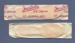 Ice Cream sticks from Justrite Ice Cream St. Joseph Mo