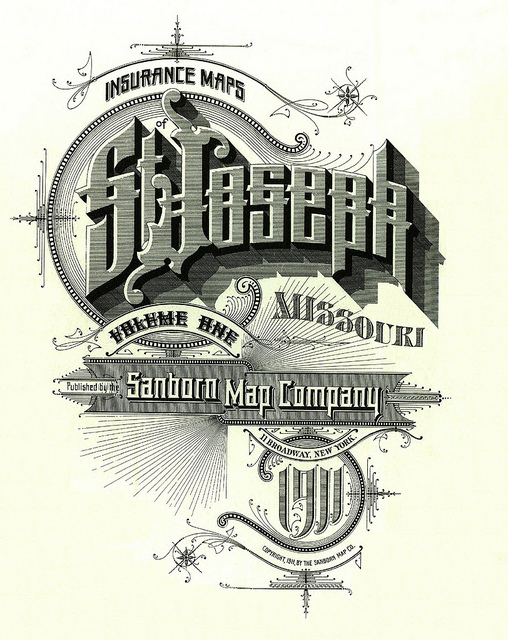 Sanborn Map Company Map Cover of  St. Joseph Mo
