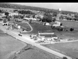 Aerial view of the old US 36 Highway