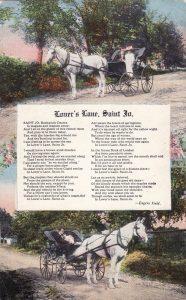 Lovers Lane St. joseph Mo. Post Card