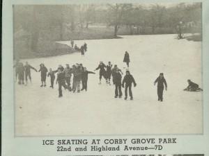 Ice Skating at Corby Pond St. Joseph Mo