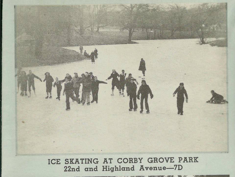 Ice Skating at Corby Pond St. Joseph Mo