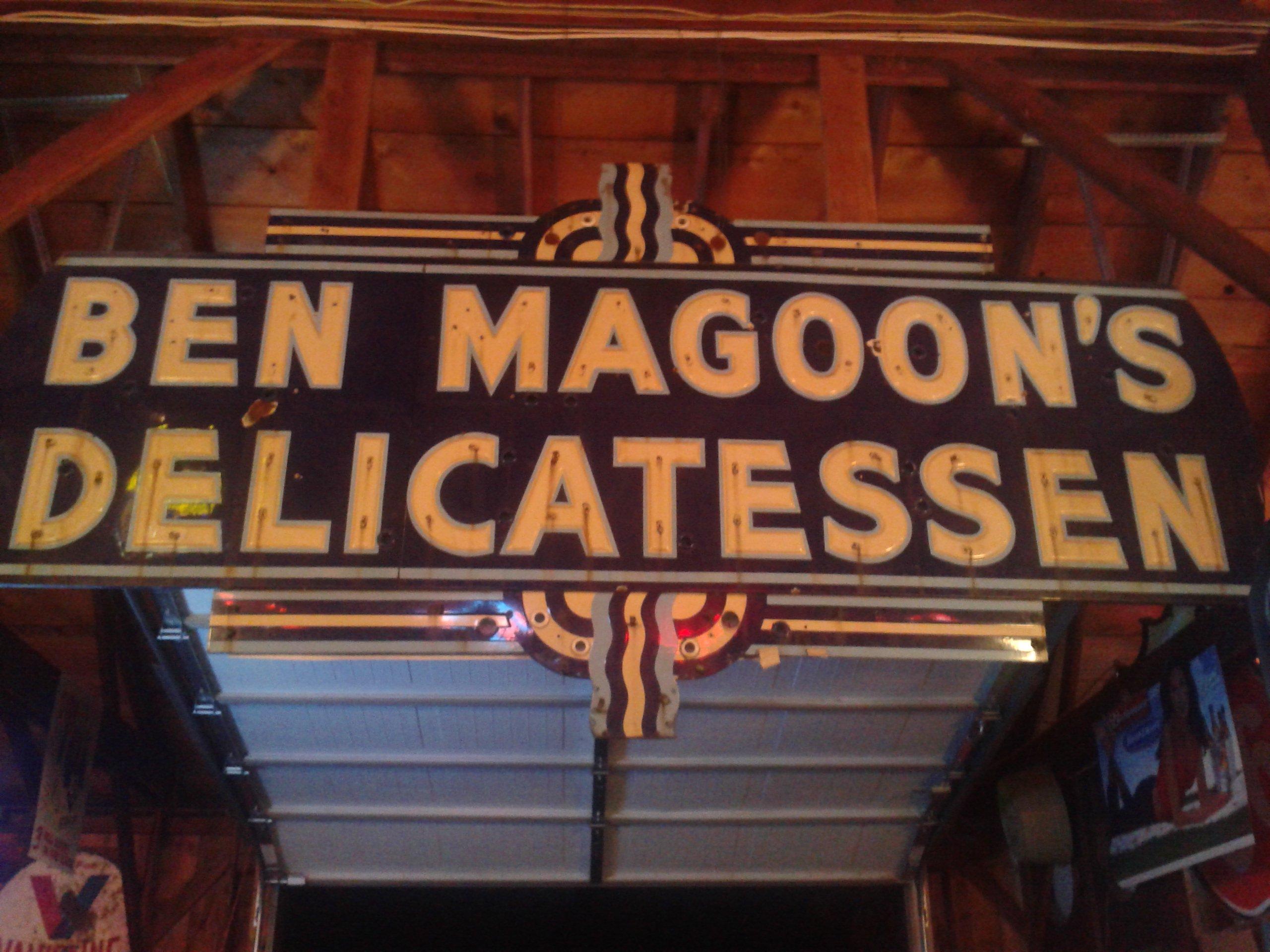 Ben Magoons Famous Delicatessen Sign St. Joseph Mo