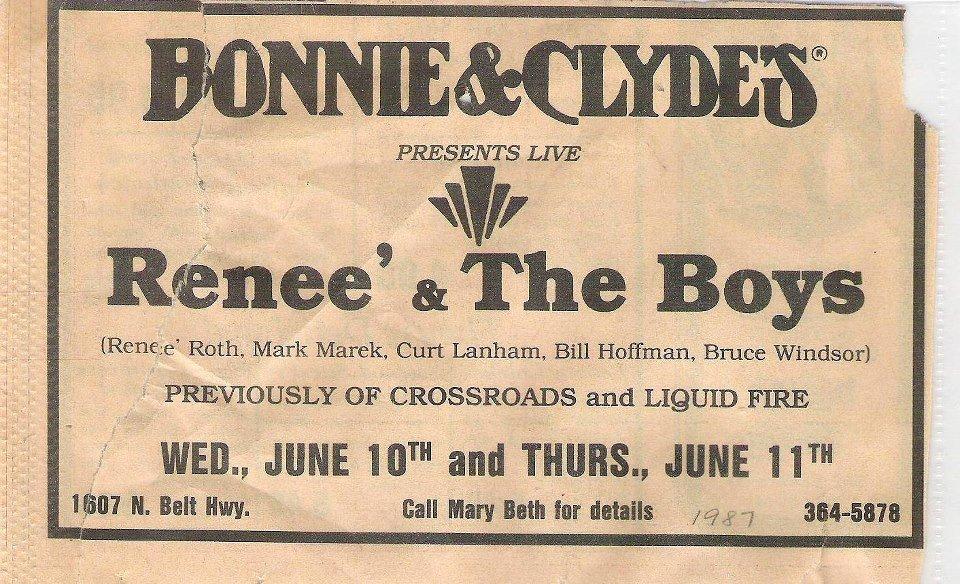 Bonnie and Clyde's - St. Joe Mo. 1987 - I Love St. Joseph Mo