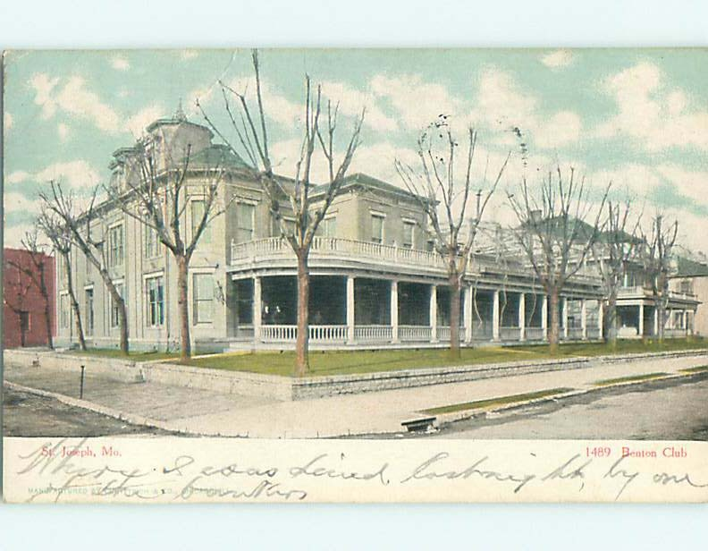 The Benton Club Pre-1970 St. Joseph Mo – I Love St. Joseph Mo