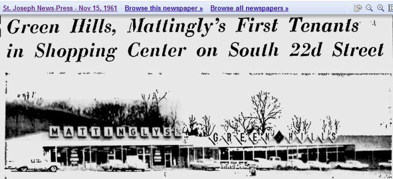Shopping Center – Green Hills – Mattingly's 22nd Street – St. Joseph
