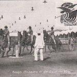 1908 St. Joseph Mo Army Artillery Troop Contest Postcard