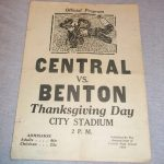 1934 Central High School vs Benton Thanksgiving Football Program  St Joseph MO