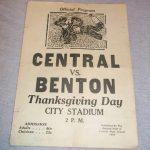 1934 Central High School vs Benton Thanksgiving Football Program  St Joseph MO