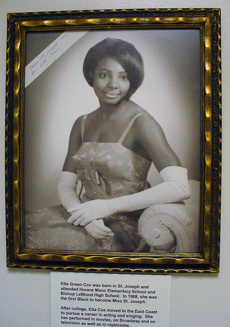 First Black Miss St. Joseph Ella Green Cox 1968