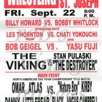 Wrestling Poster City Auditorium St. Joseph Mo