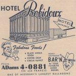 Hotel Robidoux Ad St. joseph Mo