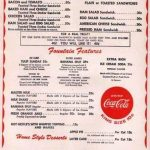 WoolWorth Cafe Menu
