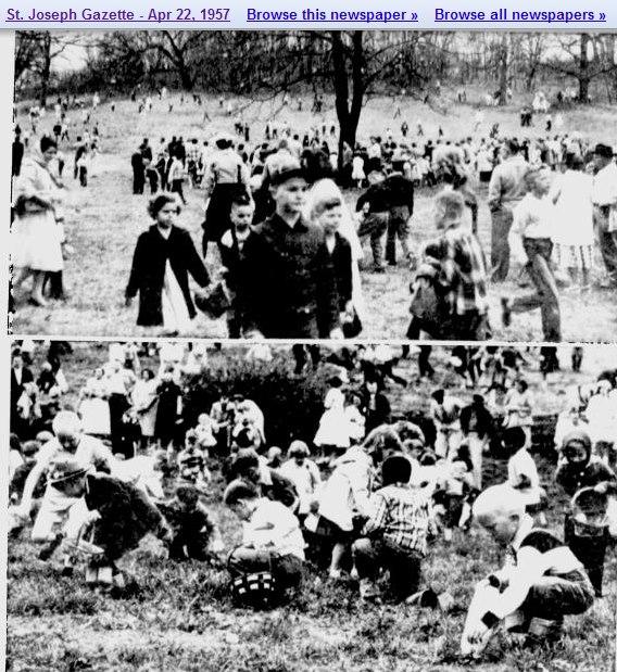 Easter Egg Hunt Krug Park 1957 St. Joseph Mo