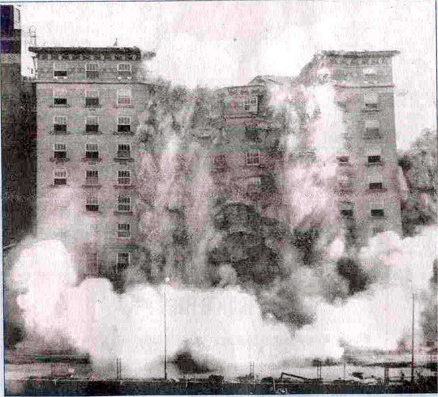 Demolition of the Hotel Robidoux