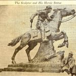 Designer HERMAN MACNEIL April 1940 Pony Express Statue St. Soseph Missouri
