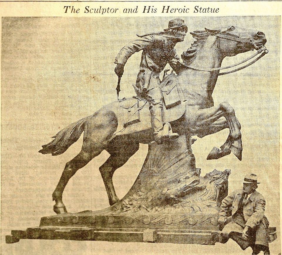 Designer HERMAN MACNEIL April 1940 Pony Express Statue St. joseph Missouri