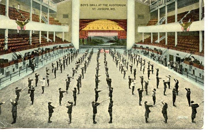 Interior of the St. Joseph City Auditorium 1915
