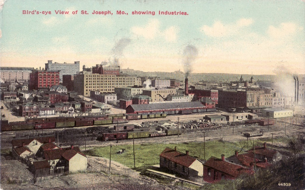 Birds Eye view of St. Joseph Mo