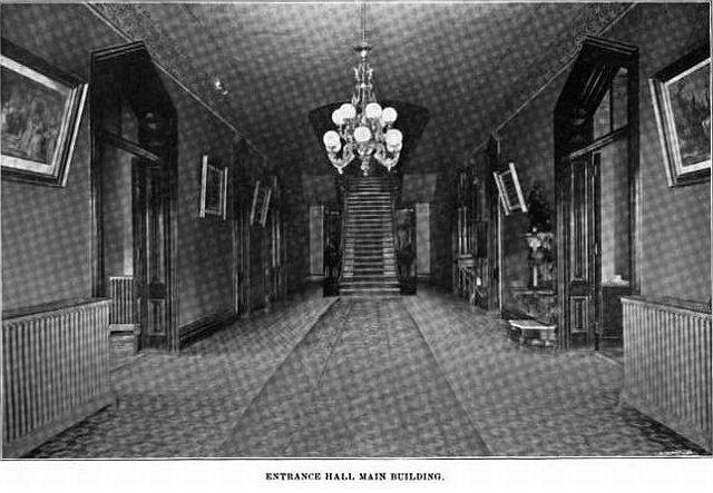 Main entrance Center buiding circa 1800 s State Insane assylum