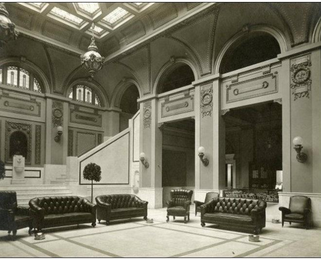 Robidoux Hotel …interior in 1918