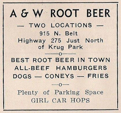 A and W Root Beer St. joseph Mo
