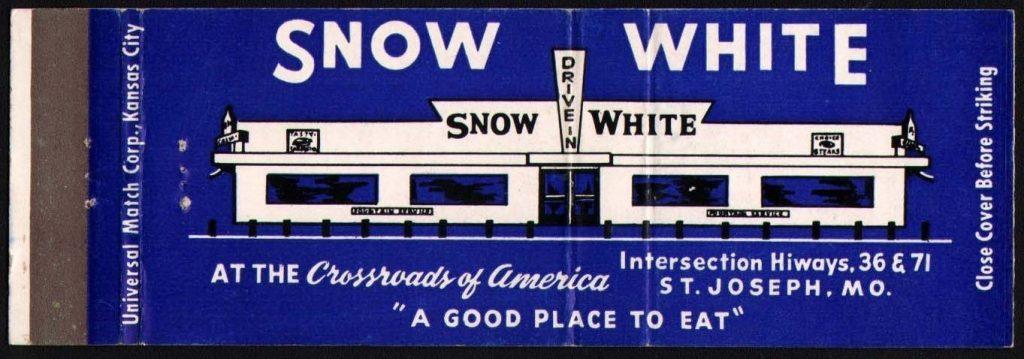 Snow White matchbook Cover St. Joseph Mo.