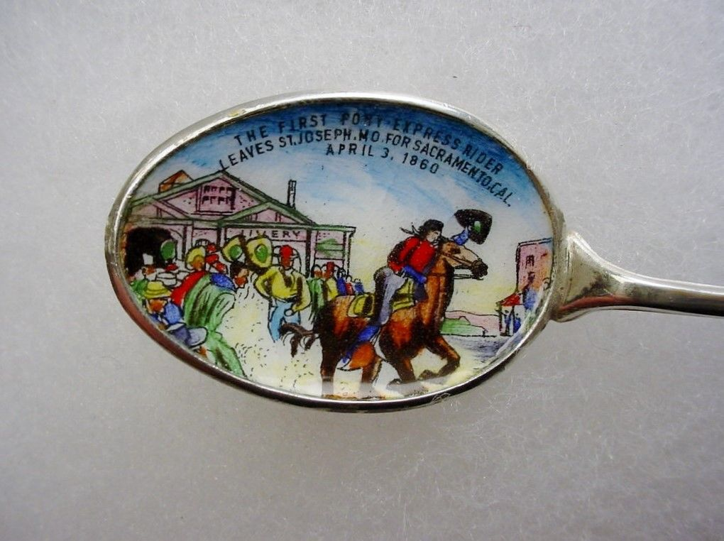 Pony Express Painted Spoon