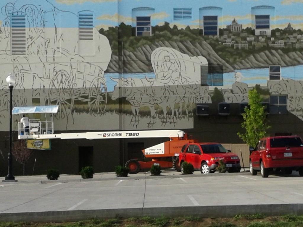 St. Joseph Downtown Partnership Western Expansion Mural - St. Joseph Mo.