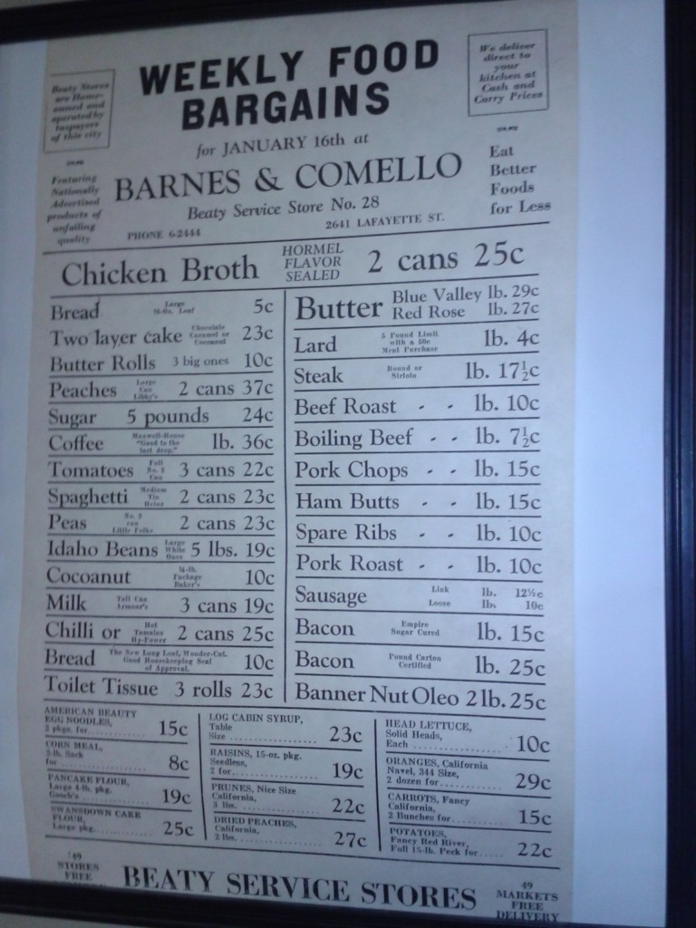 Barnes and Comello - Beaty Grocery Store Prices - Located 2641 Lafayette St. Joseph Mo