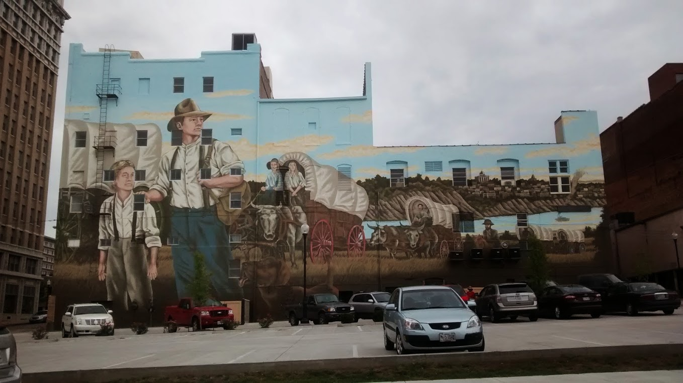 St. Joseph Downtown Partnership Western Expansion Mural – St. Joseph Mo.  Mural Completed