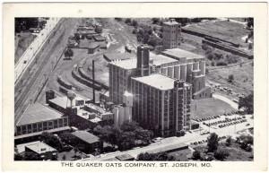 Postcard The Quaker Oats Company in St. Joseph, Missouri