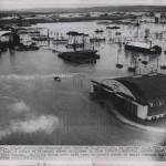 1952 Press Photo The flooded town of St. Joseph Missouri
