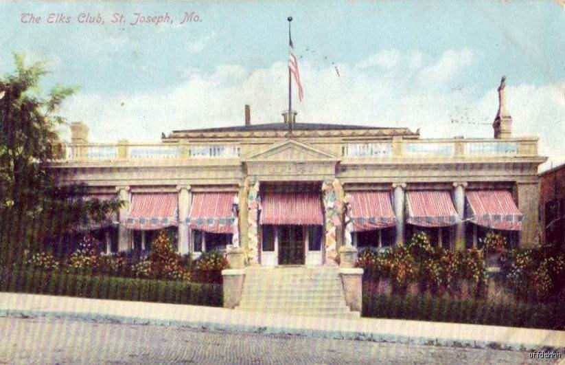 Elks Club St Joseph Mo 1909 I Love St Joseph Mo