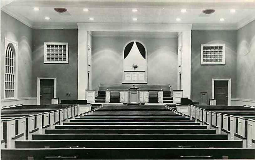 Postcard Wyatt Park Baptist Church Interior St Joseph
