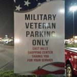 Hats off to East Hills – Military Veteran Parking Only