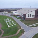 Drone over MWSU Football Complex including Spratt Stadium