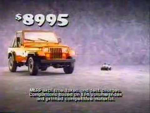 Vintage Commercial: Jeep Wranger (1988)