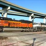 BNSF Train Action in Downtown St  Joseph, Missouri