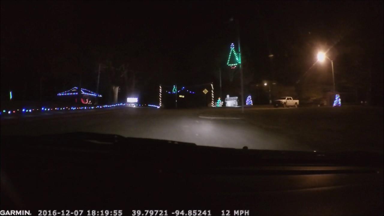 2016 Christmas Lights at Krug Park in St Joseph, Missouri
