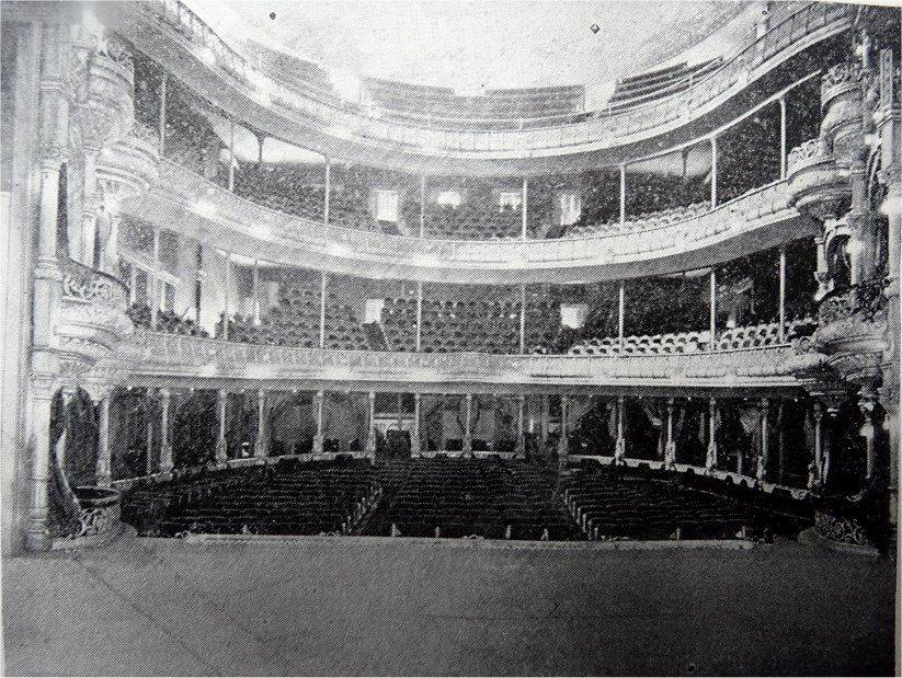 Interior of Tootle Opera House