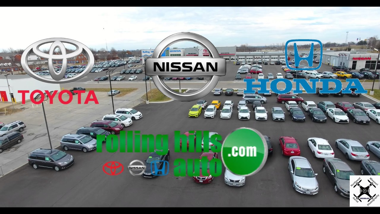 Aerial Photography over Rolling Hills Auto Plaza – St. Joseph, Mo