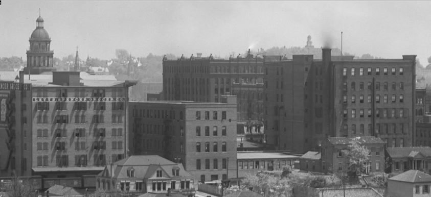 1890s St Joseph downtown as seen from Prospect Hill