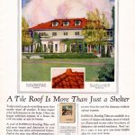 1926 House Beautiful magazine – 1926 Roofing Tile Ad – Wyeth Mansion now ABTU